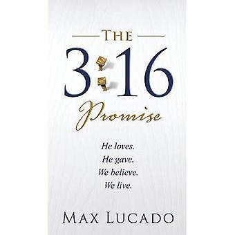 El 3:16 promesa: él ama. Él le dio. Creemos. En que vivimos.