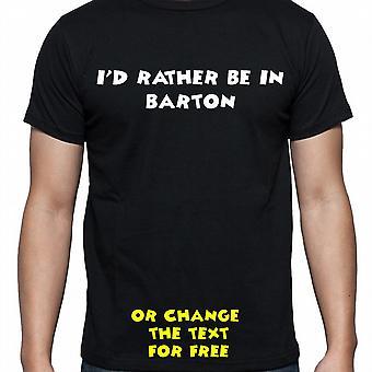 Ik had eerder worden In Barton Black Hand gedrukt T shirt