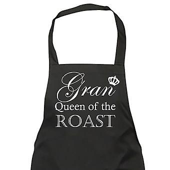 Gran reina del asado negro delantal