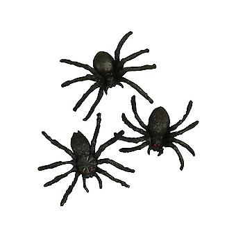 10 Plastic Spiders Halloween Party Bag Fillers for Kids