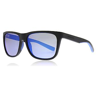 Serengeti 8683 Sanded Black / Blue Sanded Black / Blue Livio Square Sunglasses Polarised Lens Category 3 Lens Mirrored Size 57mm