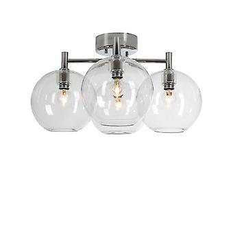 Belid - Gloria Flush soffitto luce LED cromo vetro trasparente finitura 20094418
