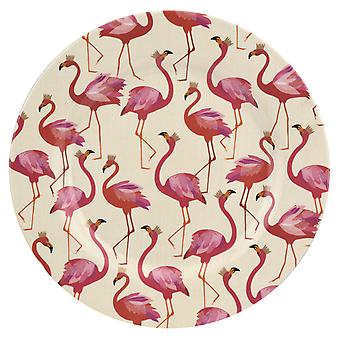 Sara Miller Flamingo Set of 4 Melamine Dinner Plates