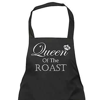 Reina del asado negro delantal