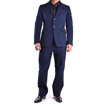 Costume National Blue Wool Suit