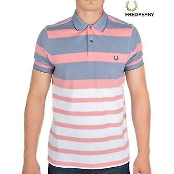 Fred Perry Stripe Oxford Pique Men's Short Sleeved Polo Shirt M7202-224