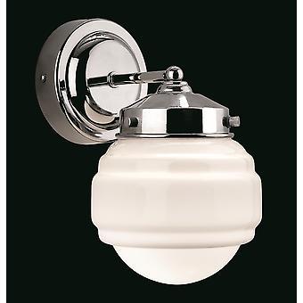 Firstlight-1 cuarto de baño de luz interior pared cromo, ópalo vidrio blanco IP44-4946CH