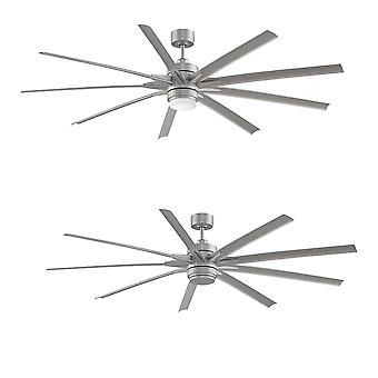 Energy-saving LED ceiling fan ODYN Chrome 214cm / 84
