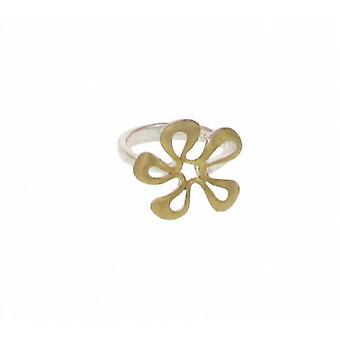 Cavendish French Silver and Gold vermeil flower ring
