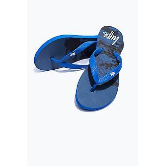 Hype Blue Camo Fade Flip Flops