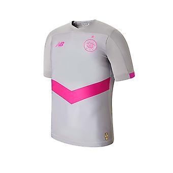 New Balance Celtic FC 2019/20 Kinder Kurzarm dritten Fußball Shirt grau/rosa