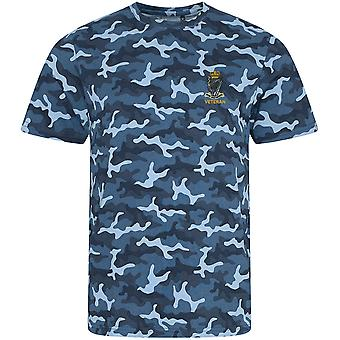 Royal Irish Rangers veterano-licenciado British Army impressão de camuflagem bordado T-shirt
