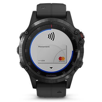Garmin Fenix 5 Plus Sapphire Black Mens Smartwatch 010-01988-01 47mm
