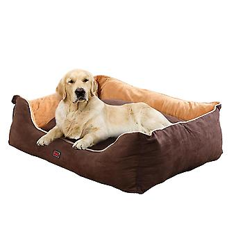 Pawz Soft Lining Washable Pet Bed Mat Cushion Brown