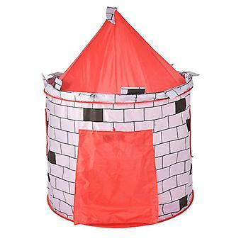 Kids Pop Up Castle Cute Playhouse Children Play Tent
