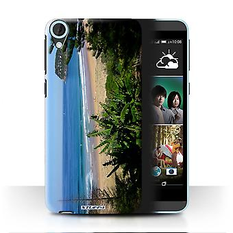 STUFF4 Case/Cover for HTC Desire 820q Dual/Beach/British Coast