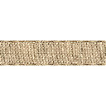 Wired Burlap Ribbon 1-1/2