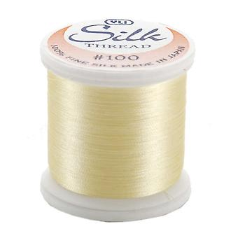 Silk Thread 100 Weight 200 Meters Pale Yellow 202 10 213