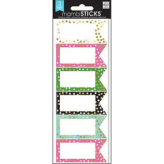 Label Stickers-Big City Brights Banner W/Gold Foil Dots LABS10