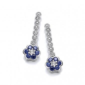 Cavendish French Sapphire CZ Pansy Earrings