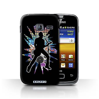 STUFF4 Case/Cover for Samsung Galaxy Y Duos/S6102/Singer Black/Rock Star Pose