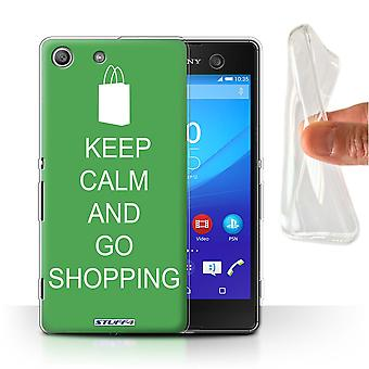 STUFF4 Gel/TPU fallet/skal till Sony Xperia M5/Go Shopping/Green/Keep Calm