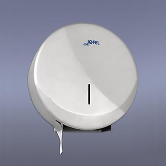 Jofel Polished Stainless Steel Mini Jumbo Toilet Roll Dispenser; Futura Range