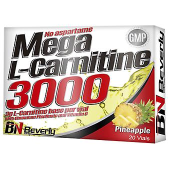 Beverly Nutrition Mega L-Carnitine 3000 (Vitamin C & Chromium) Pina 20 Ampollas