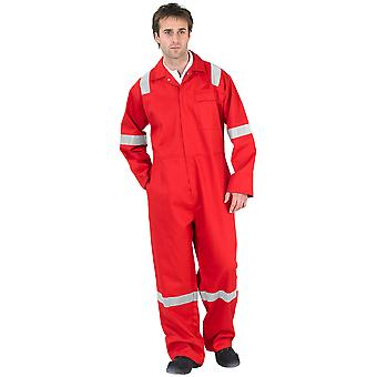 Nordic Design Cfrbsnd 100% Cotton Flame Retardant Coverall Red 300Gsm