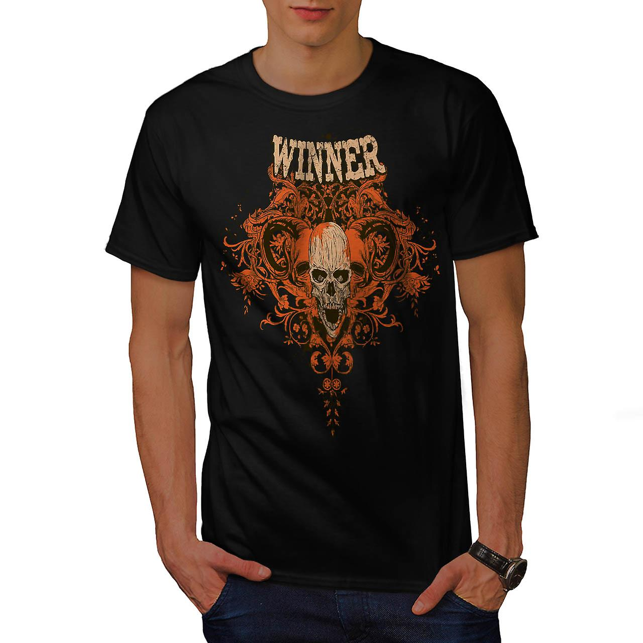 Winner Animal Skull Monster Head Men Black T-shirt | Wellcoda