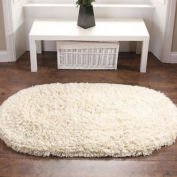 Rainbow Shaggy Washable Rugs In Cream