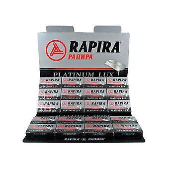 Rapira platin Lux barberblade-100 vinger