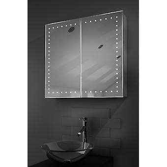 Panos LED Bathroom Cabinet with Demister Pad, Sensor & Shaver k359