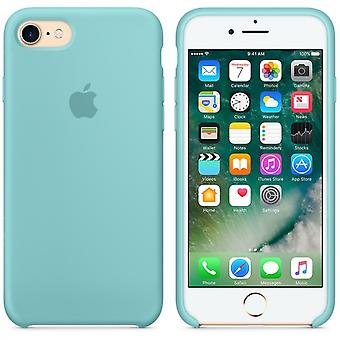 Apple Silicon Micro Fiber cover case for iPhone 8 / 7 - sea blue