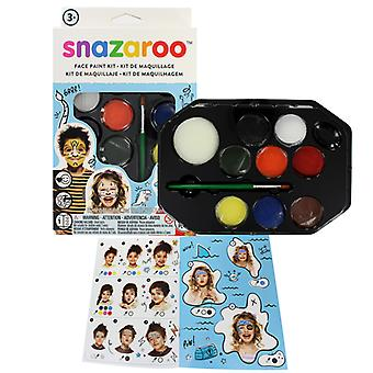Snazaroo Adventure 8 Piece Colour Face Paint Kit Fancy Dress Accessory