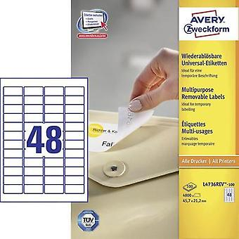 Avery Labels L4736Rev-100 45.7 X21, 2Mm