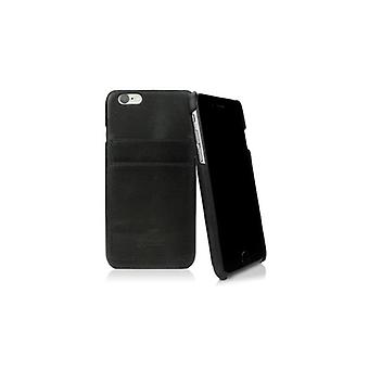 Caseual Leather back For iPhone 6/6S-BLACK