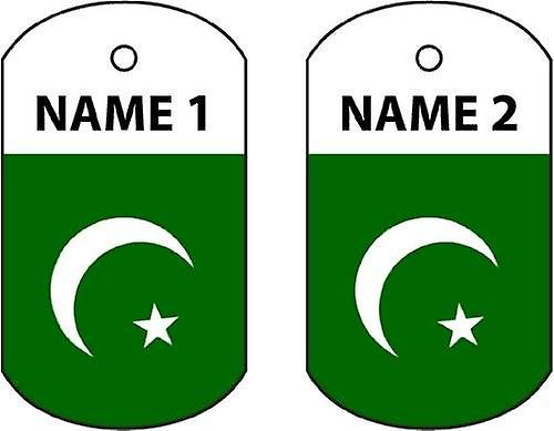 Personalised Pakistan Dog Tag Car Air Freshener