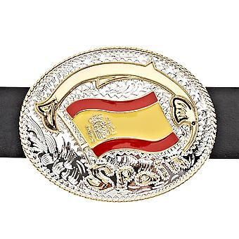 Iced out bling belt - SPAIN ESPAÑA gold / silver
