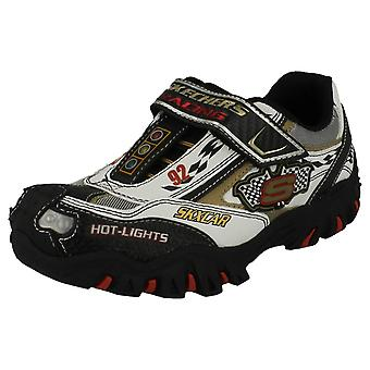 Boys Skechers Hot Lights Trainers Race Car
