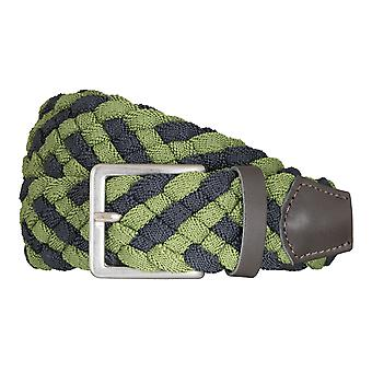 BRAX belts men's belts textile woven belt green/blue 5407
