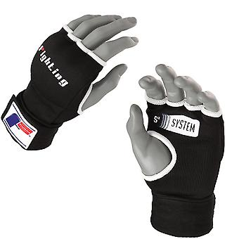 Fighting Sports S2 Hook and Loop Gel Boxing Glove Wraps - Black