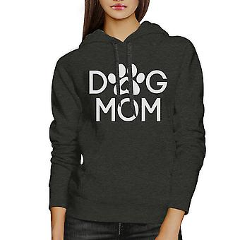 Dog Mom Dark Grey Unisex Hoodie Pullover Cute Gift For Dog Owners