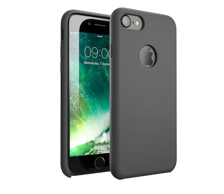 i-Blason-iPhone 7 Case, Silicone [Flexible] Case-Shock Absorbing-Gray