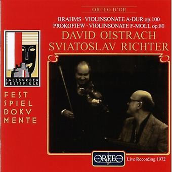 Brahms/Prokofiev - Brahms: Violinsonate a-Dur Op. 100; Prokofiev: Violinsonate F-Moll Op. 80 [CD] USA import