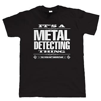 É um Metal que detecta coisa engraçado Mens T camisa