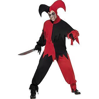 Harlequin kostym Eulenspiegel skräck kostym Halloween