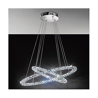 Eglo TONERIA Crystal Rings LED Pendant