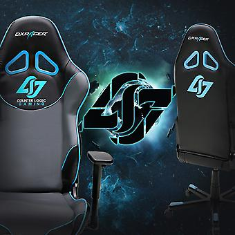 DX Racer DXRacer OH/RE129/NGB/CLG High-Back Racing Seat Gaming Chair PU(Black/Gray/Blue)