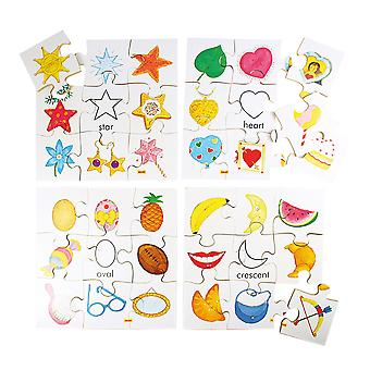 Bigjigs Toys Shapes Puzzles Set 2 (Set of 4)
